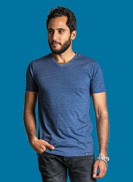 Navy Shanih Summer Round t-shirt Men